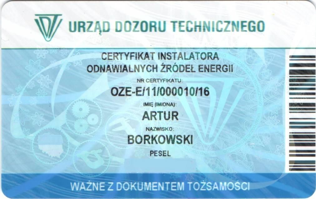certyfikat udt